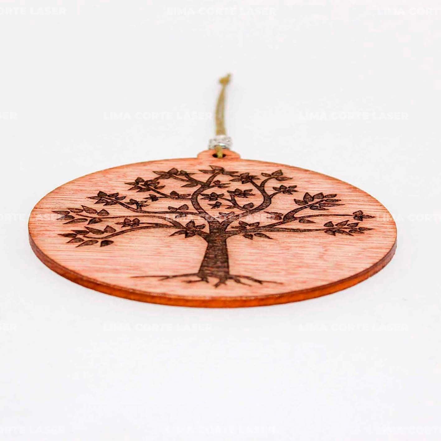 Colgante árbol de la vida cortado y grabado con láser