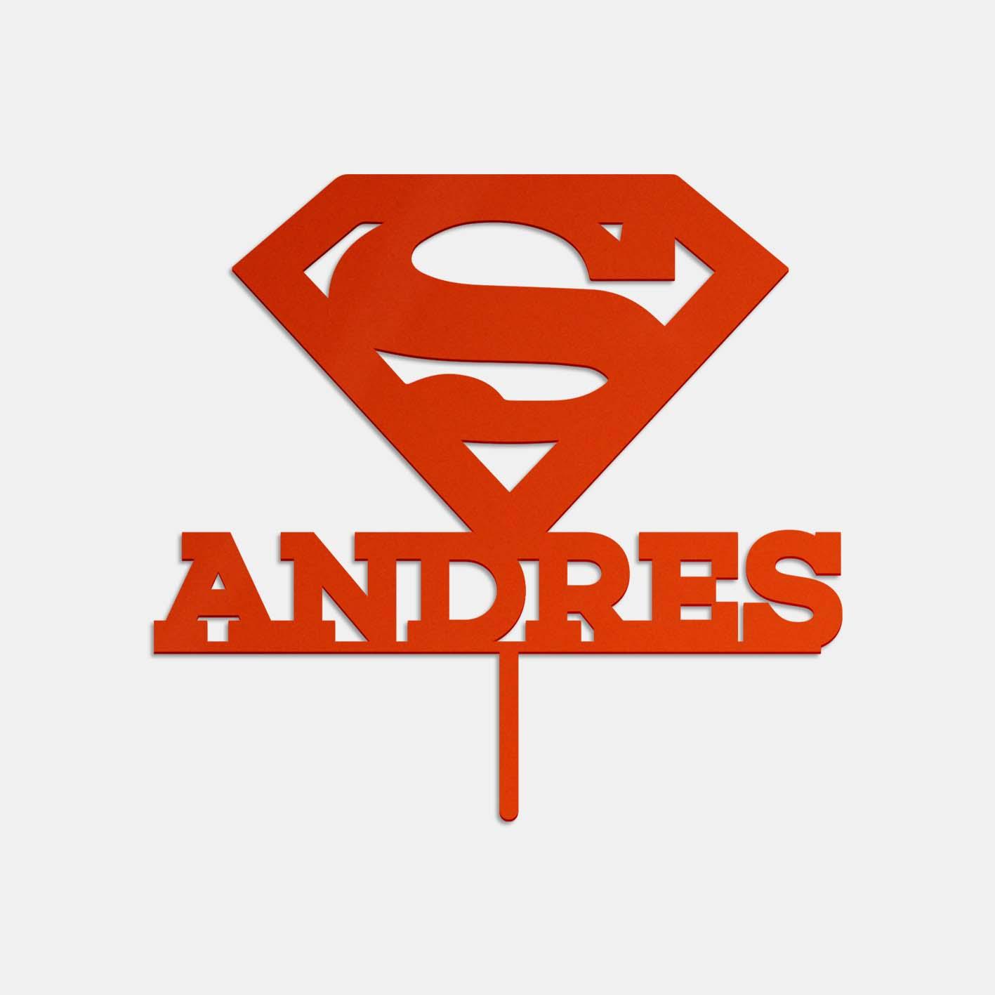 Topper de acrílico con diseño Superman de Lima Corte Láser